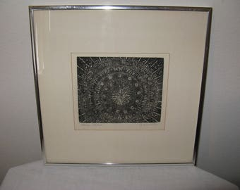 "Vintage Print ""LACE"" by Listed Contemporary CHICAGO artist Garnet Gullborg"