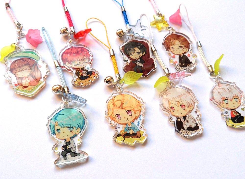 Messenger clear acrylic charms