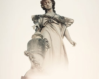 angel photography new orleans art st louis cemetery statue white home decor religious decor Angel no. 1