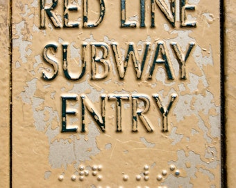 Red Line - Subway - Chicago - Placard - 8x10