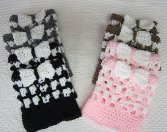 Crochet Boot Cuffs,Striped Boot Cuffs,Boot Toppers,Boot Cuffs with a Bow,Bows,Pink Cuffs,Gray Cuffs,Black Cuffs,Brown Boot Cuffs,Boot Socks