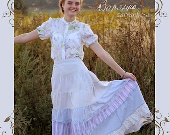 Maxi linen skirt Nicole