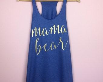 Mama Bear Shirt. Pregnancy Shirt. Preggers Shirt. Mama Bear Tank. Mama Bear Tank Top. Mom Shirt. Baby Shower Gift. New Mom Shirt.
