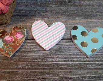 Designer Heart Die Cuts - 60 PC Paper Goods, Embellishments, Crafts, Scrapbooking, Card making, Journaling,  VTC-0173D