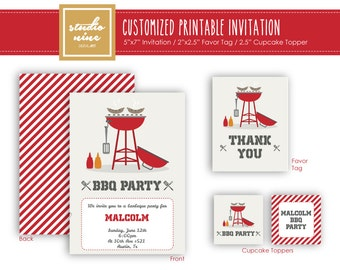 Printable Customized Invitation - Barbeque Party