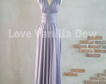 Bridesmaid Dress Infinity Dress Periwinkle Floor Length Maxi Wrap Convertible Dress Wedding Dress