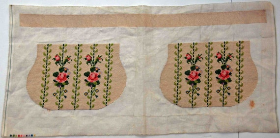 Antique Ca 1920s Hand Made Floral Silk Micro Petit Point Purse Components Excellent Never Used Condition