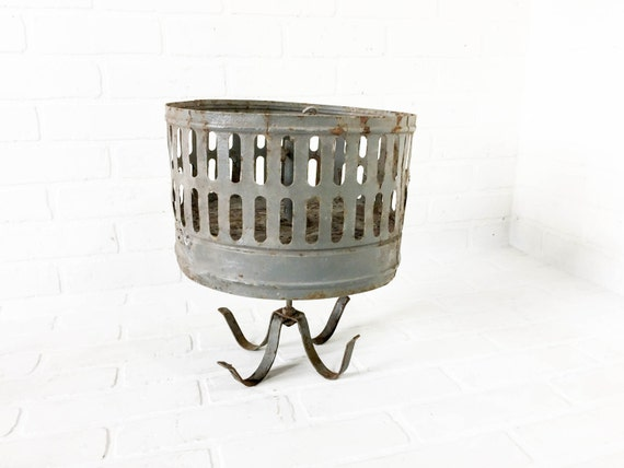 Items Similar To Vintage Coal Miner's Clothes Basket