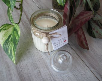 """""""Straight Bonbonniere"""" candle red berries"""