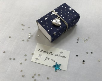 Thank the Universe (Daughter) Message Box/Gift Box with fabric gift bag