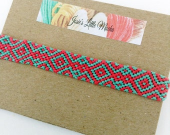 Handmade Aztec Friendship Bracelet / colorful bracelets / embroidery thread bracelets / summer fashion / cute friendship bracelets