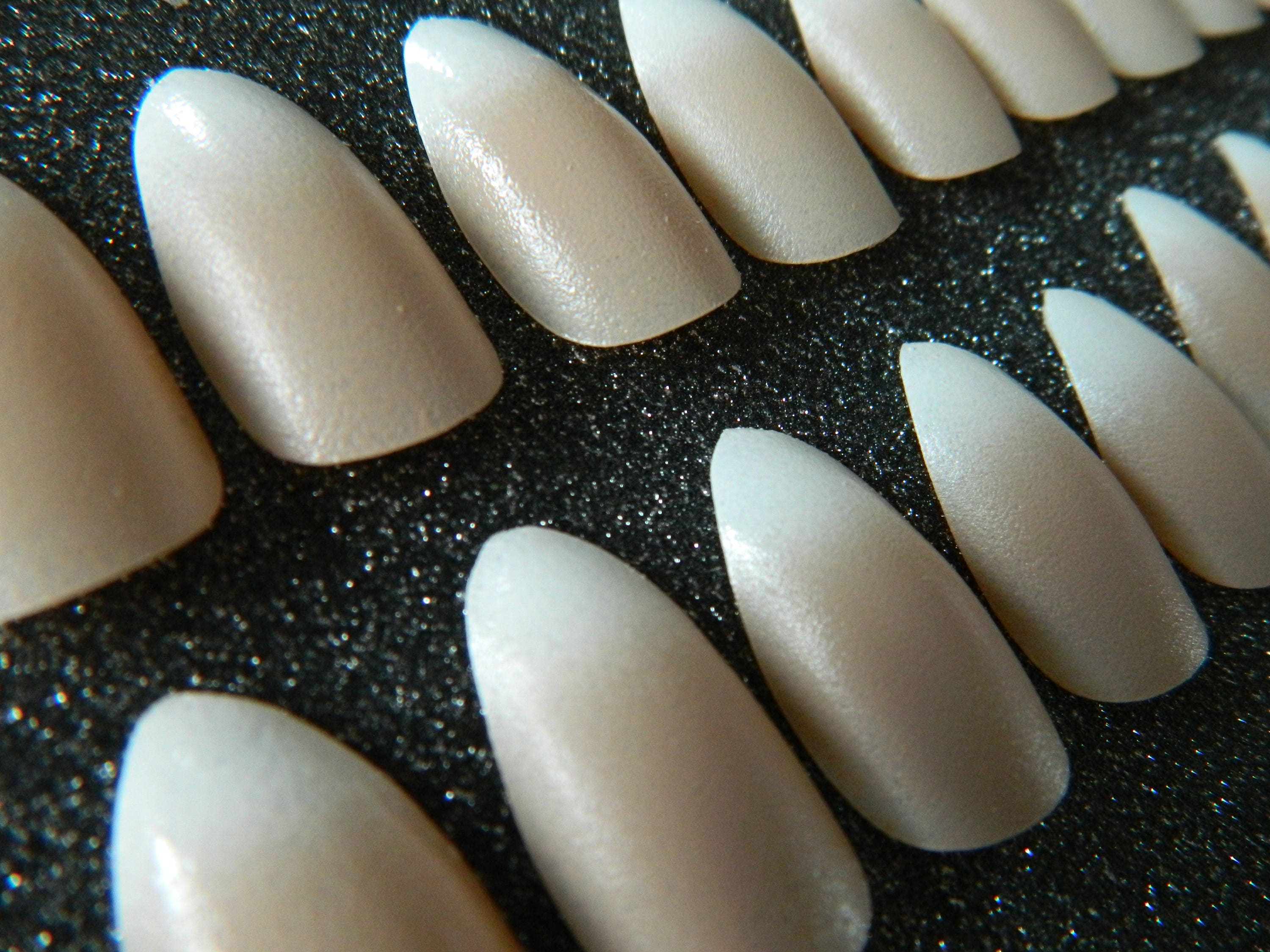 Ombre French Manicure Press On Nails. from OutOfTheCanon on Etsy Studio