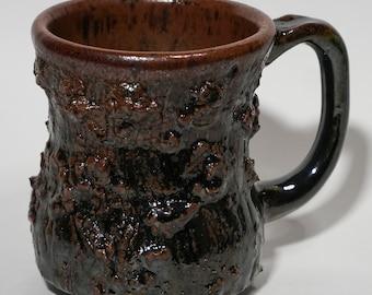 Olive Green Tree Bark Mug