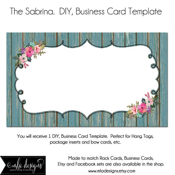 Dyi blank business card template the sabrina made to match wajeb Gallery