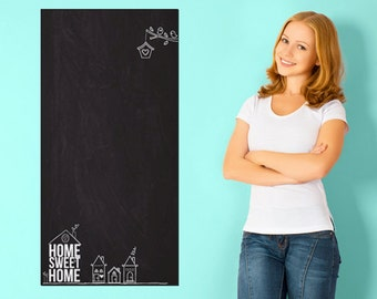 Home sweet home blackboard Chalkboard sticker - 100/50 CM