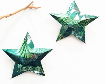 Descender IPA : GoodLife Brewing Company & Bier Hall, Beer Can Stars, Recycled Ornaments, Green White