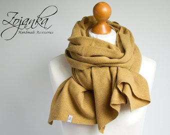 Wool scarf, honey yellow scarf,  WINTER fashion, gift ideas, winter fashion accessories, gift ideas, christmas gift for her, shawl, wrap