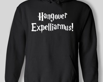 Hangover Expelliarmus Harry Potter Style Wizard Witch Magic Spell Funny Hoodie