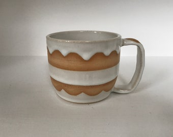Pottery Mug White Contemporay Design
