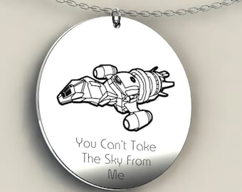 Firefly Necklace, Firefly Jewelry, Firefly Serenity, TV series, Joss Whedon, Malcolm Reynolds, Nathan Fillion, quote necklace, firefly charm