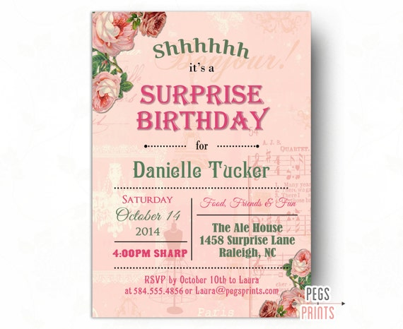 awesome surprise party invitation templates free printable birthday