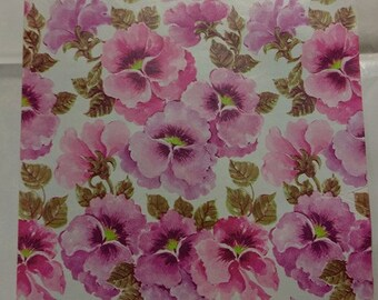 Vintage Pansy Wrapping paper