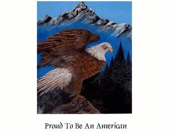 16 X 20   Giclee Fine Art Eagle Print  By Wyoming Artist Joyce Lee