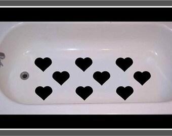 Non Skid Non Slip Valentine Hearts for Tub or Shower
