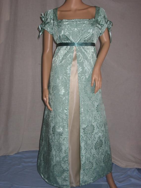 Custom Made Regency Jane Austen empire waist ball dress gown