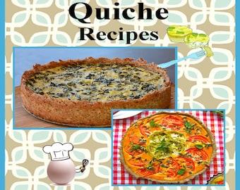 150 Quiche Recipes E-Book Cookbook Digital Download