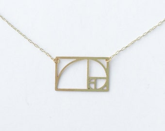 Fibonacci Spiral Necklace | ATL-N-118
