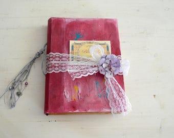 Boho wedding guest book  bride's journal gift for bride scrapbook heirloom keepsake photo book junk journal fairytale wedding diary