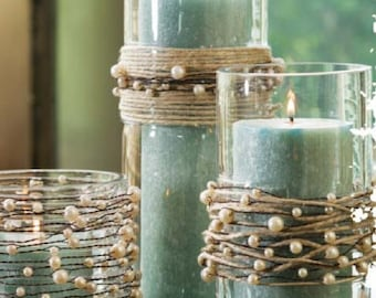 Pearl Beads on Wire Garland | Rustic Wedding | Beach Wedding |  Rustic Wedding Centerpiece
