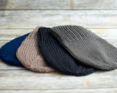 Slouchy Knit Hat, Women's Chunky Knitted Wool Beanie, Winter Ski Hat, Slouchy Beanie, Knit Beanie, Fall Fashion, Winter Accessories