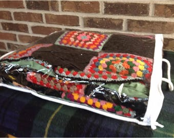 rare vintage 1970's show retro afghan throw blanket