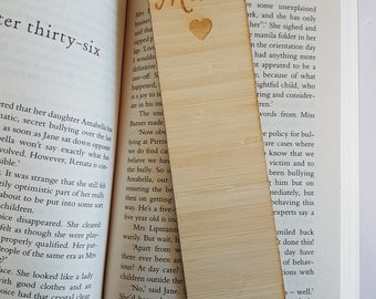 Mum-Wooden Bookmark-laser cut-mothers day-heart-gift for mum