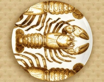 1 or 3 Crustaceans dinnerware