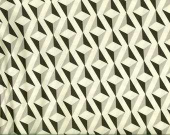 Gray black beige geometric Moda fabric