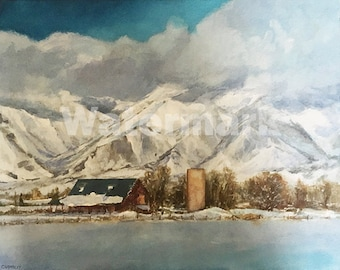 Winter Stillness Fine Art Painting by Peter V Cramblit 16X20X1 2010