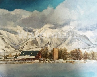 Winter Stillness Fine Art Painting by Peter V Cramblit 16X20X1 2010
