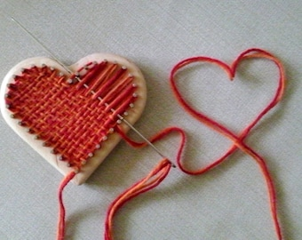 Heart Pin Loom, Pin Loom Kit, Pin Loom, Zoom Loom, Square loom, Weaving Loom, Frame Loom