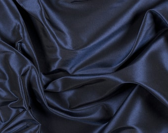 "54"" Wide 100% Silk Taffeta Navy Blue by the yard (9000MT14)"