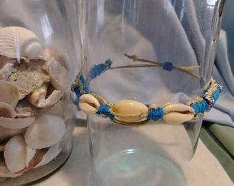 Boho Style Hemp Puka Shell Knot Bracelet