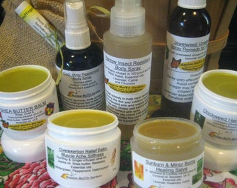 Gift Idea for the Outdoors Enthusiast, Fishing, Gardening, Camping, Vacation, Hiking, Balms, Burns,Bugs, Boo Boos