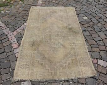 oushak rug, handknotted rug, bohemian rug, turkish rug, 3.5 x 5.8 ft. anatolian rug, distressed rug, area rug, kitchen area rug, MB1525