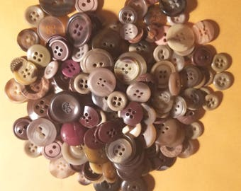 Grab bag mix of miscellaneous brown sewing buttons