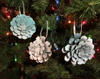 Sparkle Pinecone Snowflake Ornament