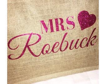 Personalised Jute/hessian shopper bags