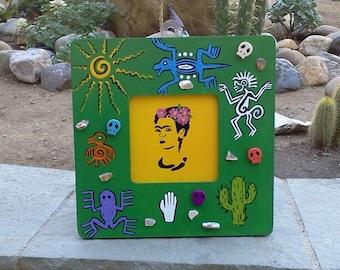 Painted Frida Kahlo - Framed