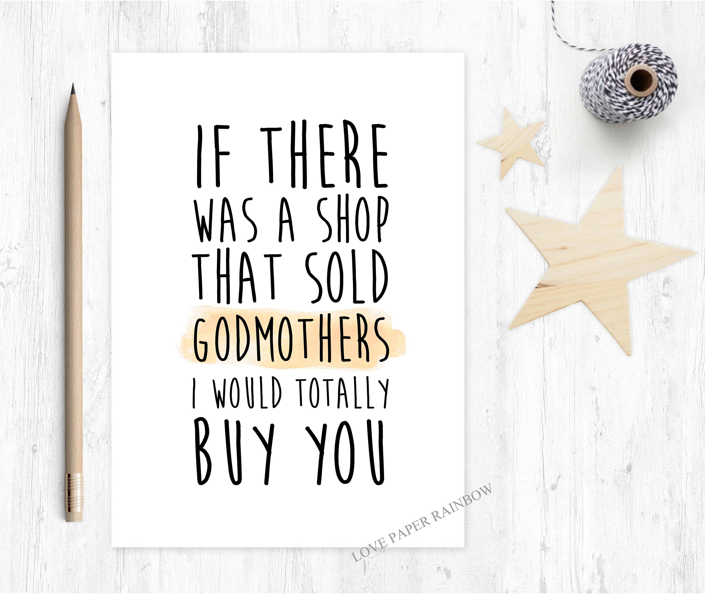 Godmother card funny godmother card godmother quote godmother godmother card funny godmother card godmother quote godmother birthday card thanks godmother will you be my godmother bookmarktalkfo Gallery